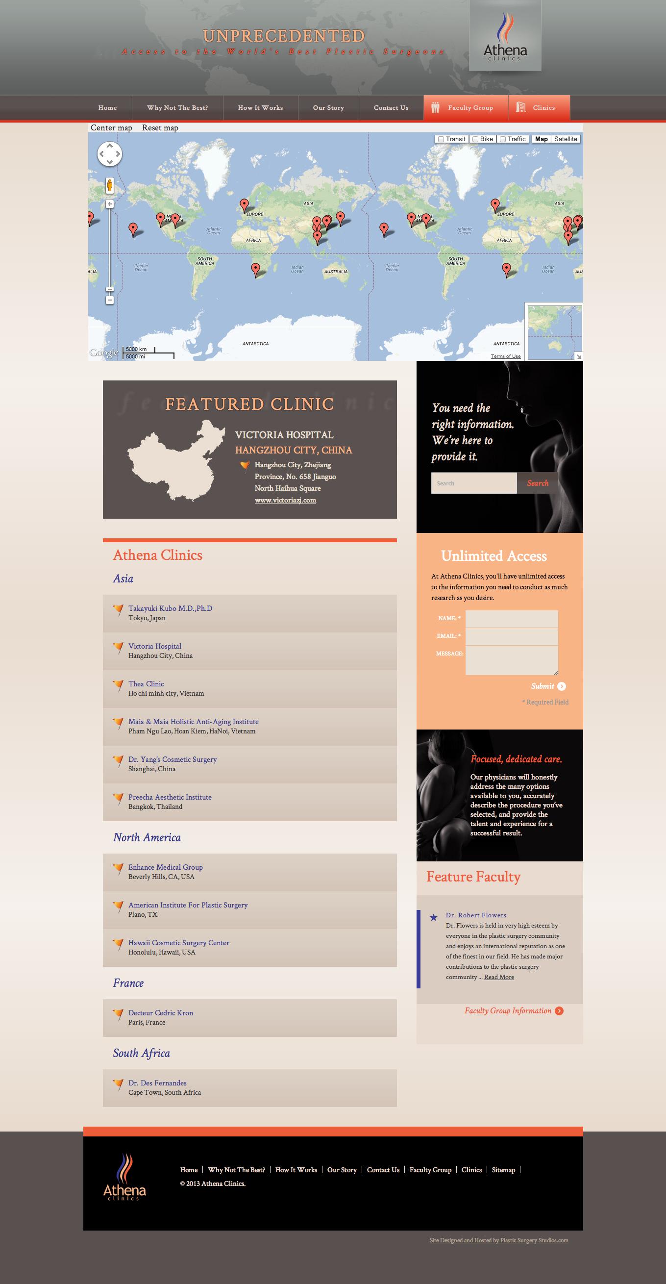Athena Clinics- Map